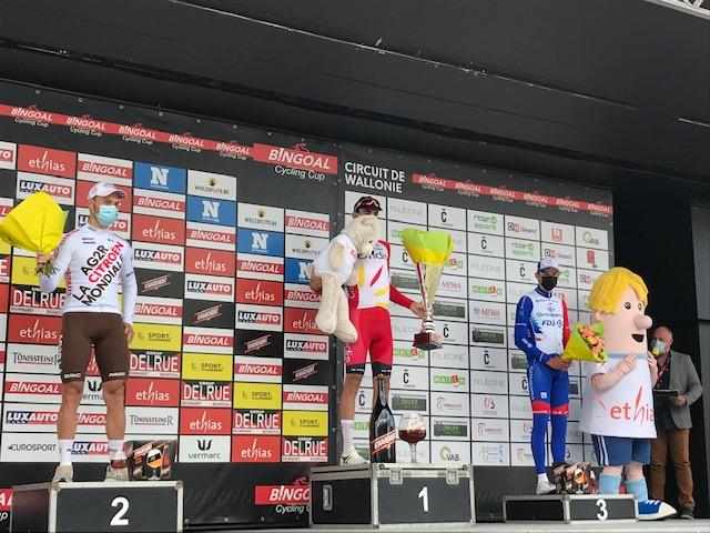Christophe Laporte wint knap Le Circuit de Wallonie